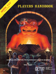 Dungeons and Dragons Players Handbook first edition.