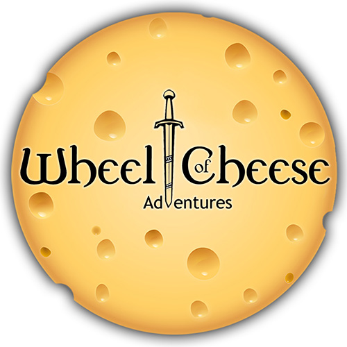 (3) Wheel of Cheese Logo Sticker